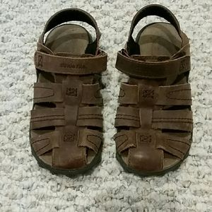 Stride Rite Hudsen Boys Leather Sandals, 10.5W